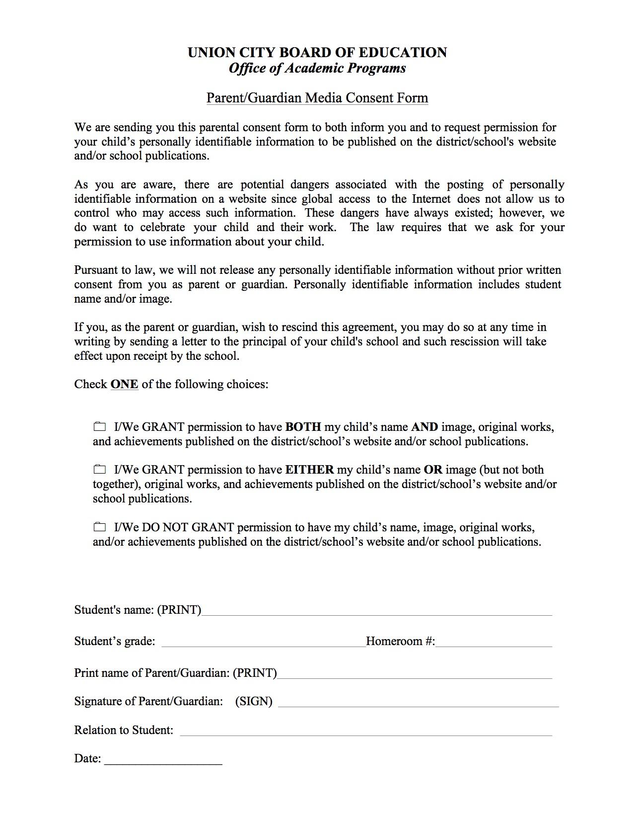 Parent consent form basics union city public schools parent consent form thecheapjerseys Gallery