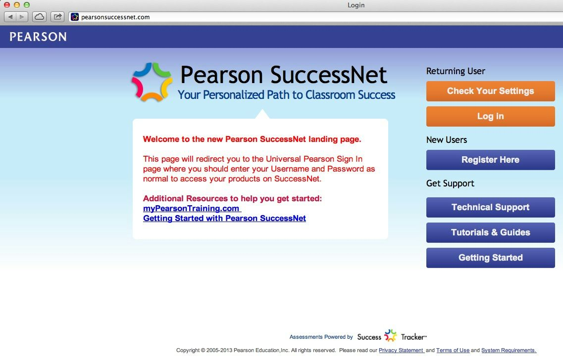 Pearson Success Net Icon/link