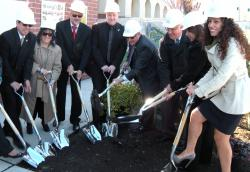 Board Members and State representative digging the ground for the Union City High School Sanctuary